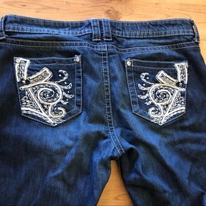 Embellished ANA Distressed Jeans